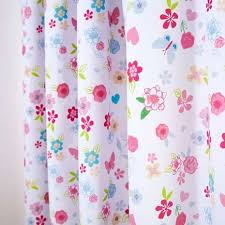 Dunelm Mill Nursery Curtains Disney Ditsy Floral White Pink And Blue Princess Blackout Pencil