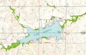 Table Rock Lake Map Lake Kahola Kansas