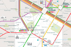 Milan Metro Map by Urban Map Milan Rail Map
