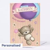 personalised birthday balloons hugs personalised card blue heart balloon from 99p