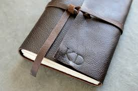 personalized leather journal leather sketchbook dark brown