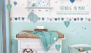 babyzimmer junge gestalten babyzimmerideen bei fantasyroom babyzimmer mit bordüren in mint