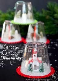 diy snow globe ornaments kids craft