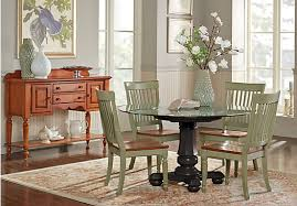 cindy crawford home ocean grove black 5 pc glass top dining room w