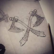 simple norse tattoo axe tattoo tattoo collections
