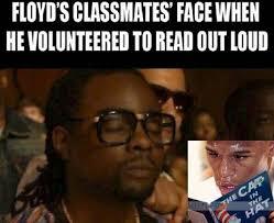 Cat In The Hat Meme - 22 meme internet floyd s classmates face when he volunteered to