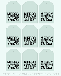 day 40 merry christmas ya filthy animal gift tags