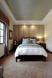 Contemporary Cornice Bedroom Tan Carpet Bedroom Contemporary With Bedside Table