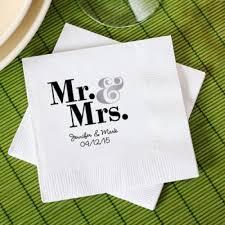 printed wedding napkins trending tuesday popular wedding favors personal chef dinner