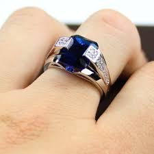 model cincin blue safir cincin pria sapphire