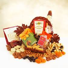 sweet and savory cornucopia thanksgiving gift basket california