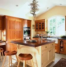 cherry kitchen cabinets with quartz counter top under cabinet