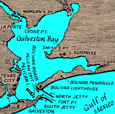 map of galveston map of galveston bay