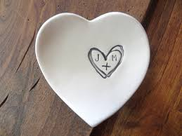 ceramic dish ring holder images Monogram ring dish engagement ring holder custom ceramic heart jpg