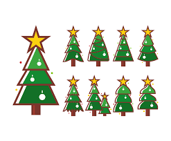 cartoon christmas tree vector art u0026 graphics freevector com