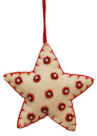 christmas heart ornament u2013 hand beaded red u0026 white hanging