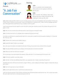 Resume For A Job Fair by A Job Fair Conversation What To Say To Recruiters At A Job Fair