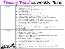 teaching in paradise reading wonders weekly teaching plans