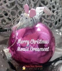 merry christmas little mouse ornament homemadekidornaments