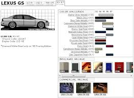 gs 1st gen paint code information clublexus lexus forum discussion