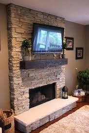 stone veneer fireplace remodel stacked fireplce large