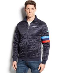 motorsport jacket puma bmw quilted softshell jacket in blue for men lyst