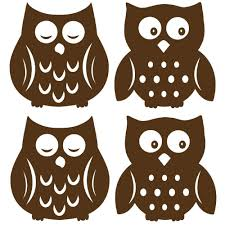 Owl Wall Sticker Owl Espresso Silhouettes Wall Sticker Set