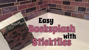 diy peel and stick backsplash bathroom enhancement youtube