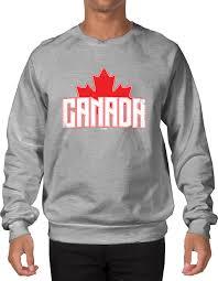 canada sweater distressed canada maple leaf montreal crewneck