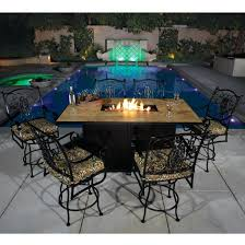 Gas Fire Pit Table Sets - dining table fire pit tables dining height table and chairs diy