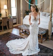 inbal dror lace wedding dresses backless plunging deep v neck