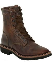 s boots with laces justin s stede 8 lace up stede work boots boot barn