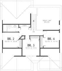 craftsman style house plan 4 beds 2 50 baths 1866 sq ft plan 48 439