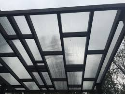 sammamsih deck pergola with polycarbonate cover sublime garden