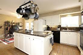 kitchen island with pot rack kitchen island pot rack pixelkitchen co