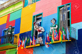 colorful building a colorful building in la boca neighborhood of buenos aires with