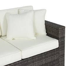 Wicker Sofa Bed by 3 Seater Wicker Sofa Gray U2013 Best Choice Products