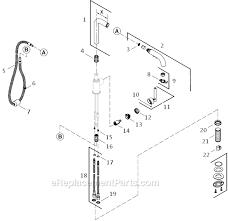kohler kitchen faucet parts diagram kohler k 7505 parts list and diagram ereplacementparts com