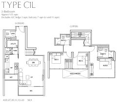 3 Bedroom Condo Floor Plan by Fulcrum Type C1l 3 Bedroom Floor Plan All Property Launches
