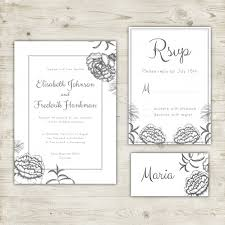 rsvp wedding wedding invitation rsvp card and place card design vector free