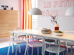 Colorful Dining Room Sets by Melltorp White Table Seats 4 With Reidar White Chairs And Bestå