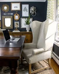 Lion Decor Home Eclectic Home Tour Driven By Decor Large Desk Dark Walls And