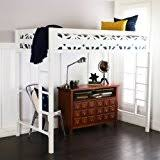 amazon com your zone twin wood loft style bunk bed kitchen u0026 dining