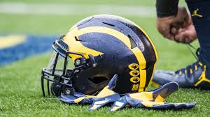 University Of Michigan Flag Michigan Winged Helmet University Of Michigan
