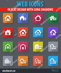 house type web icons flat design stock vector 525185305 shutterstock