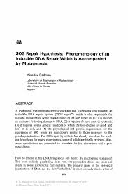 how to write a hypothesis in research paper sos repair hypothesis phenomenology of an inducible dna repair inside