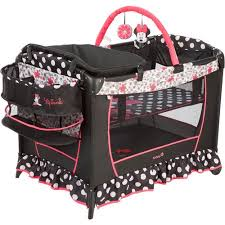 disney baby sweet play yard minnie mouse coral flowers
