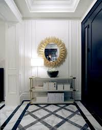 Blue And Gold Home Decor The Chic Technique Fantastic Foyer In Black White And Gold