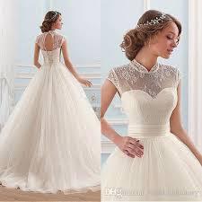 cheap high quality ball gown wedding dresses 2017 princess sheer