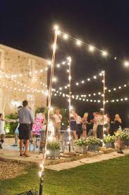 outdoor hanging string lights ideas for patio lighting with light
